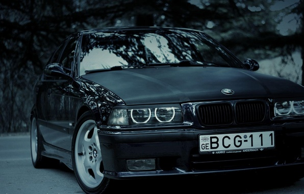 Picture lights, tuning, BMW, before, bumper, 3 series, E36