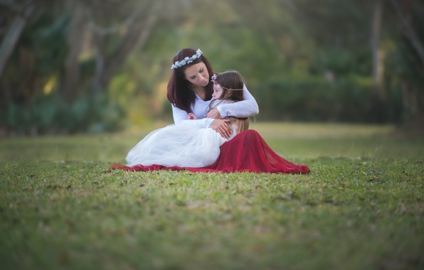 Picture mood, girl, hugs, mom, child