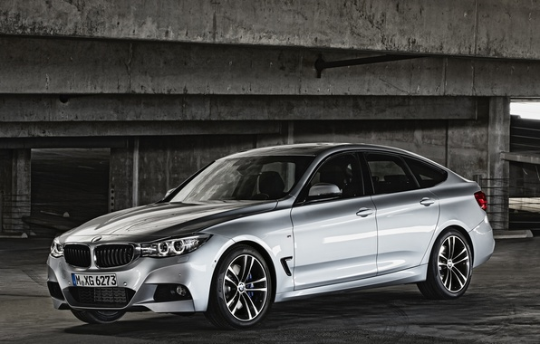 Picture car, machine, BMW, 335i, Gran Turismo, silver color, M Sports Package