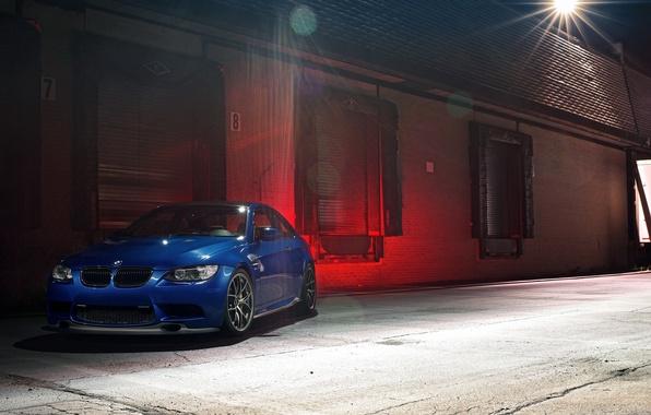 Picture light, night, blue, bmw, BMW, lantern, blue, e92