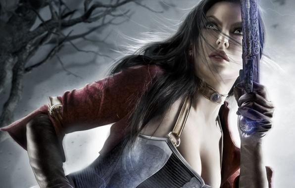 Picture look, girl, weapons, art, revolver, katarina, Dungeon Siege 3