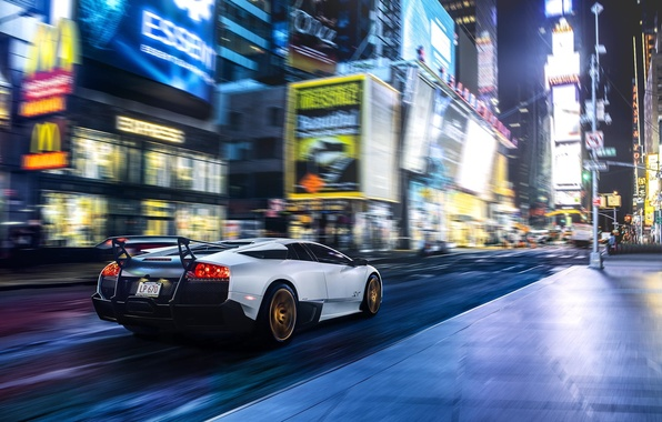 Picture Lamborghini, Speed, New York, Murcielago, NYC, SuperVeloce, Times Square, LP670-4, Supercar