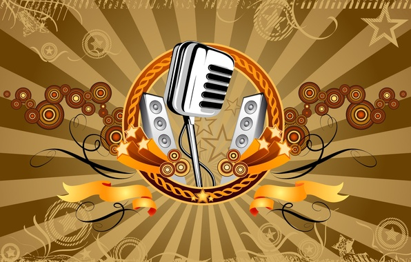 Picture music, Vector, microphone, 158