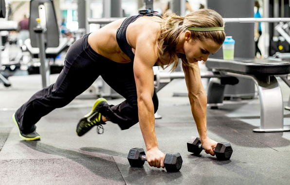 Picture woman, blonde, workout, fitness