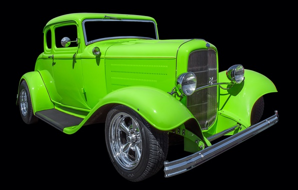 Picture retro, Ford, car, hot rod, 1932