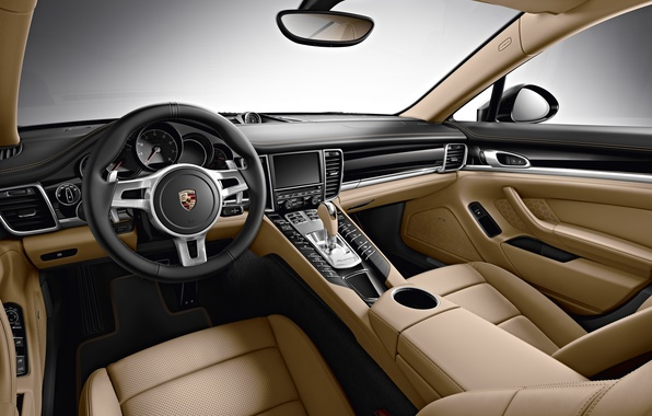 Picture interior, leather, Porsche, the wheel, Panamera, Porsche, Panamera, torpedo, Edition, 2015, 970