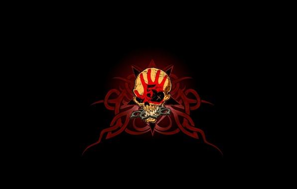 Picture pattern, skull, sake, Five Finger Death Punch, knuckles