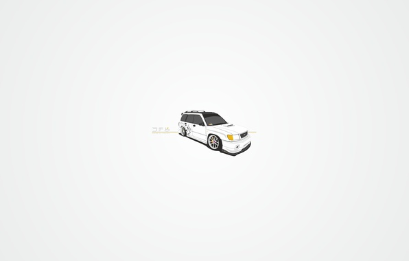 Picture subaru, jdm, tuning, carbon, forester, sf5, vector. art
