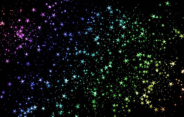 Picture color, Shine, stars, Space, sequins