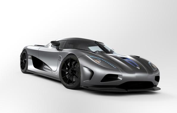 Picture grey, Koenigsegg, sports car, agera