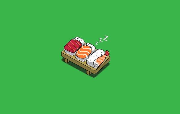 Picture sleep, fish, Figure, blanket, figure, sushi, background.