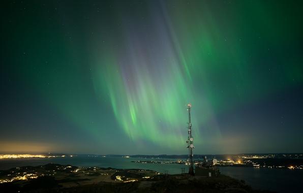 Picture the sky, stars, night, Northern lights, Aurora Borealis