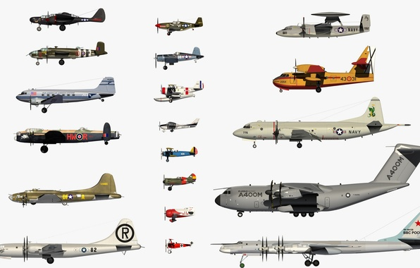 Picture country, aircraft, dimensions, types