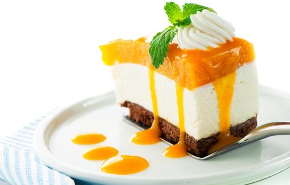 Picture sweets, cake, cake, cream, dessert, jam, piece