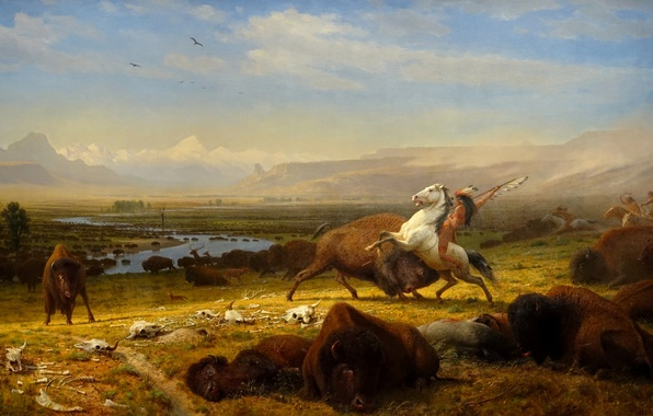 Picture picture, 1888, Albert Bierstadt, The Last of the Buffalo