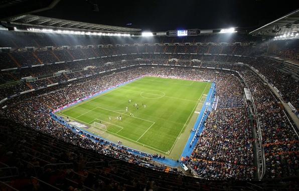 Picture football, real Madrid, stadium, the audience, Santiago Bernabeu
