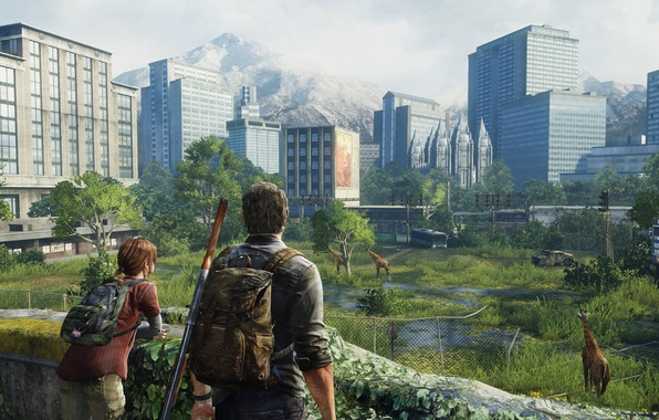 Picture girl, game, man, The Last of Us, PlayStation, Joel, Ellie, PlayStation 4, PS4, PS4 Pro, …