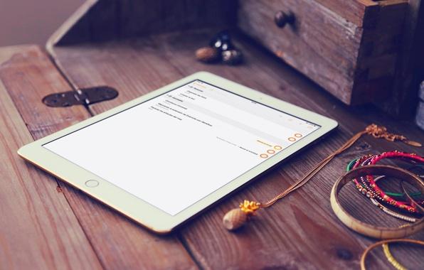 Picture Apple, iPad, White, Hi-Tech, Tablet, iOS 8, Air 2