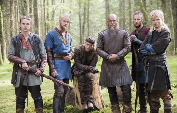 Picture background, Vikings, sons, The Vikings, Travis Fimmel, Ragnar Lothbrok