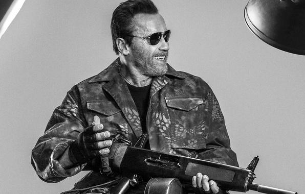 Picture Arnold, Schwarzenegger, Arnold, Schwarzenegger, The Expendables 3, The expendables 3