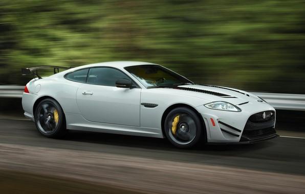 Picture car, Jaguar, road, speed, XKR-S