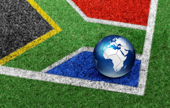 Picture grass, the ball, South Africa, World Cup 2010