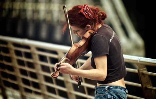 Picture music, violin, the game