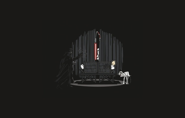 Picture Star Wars, theatre, Darth Vader, lightsaber, the trick, Stormtrooper, Princess Leia