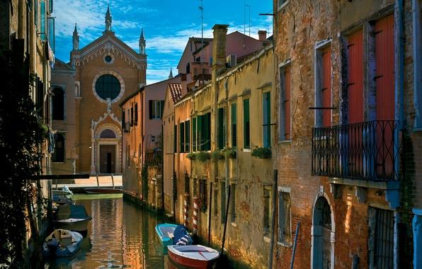 Picture city, the city, Italy, Venice, channel, Italy, gondola, Venice