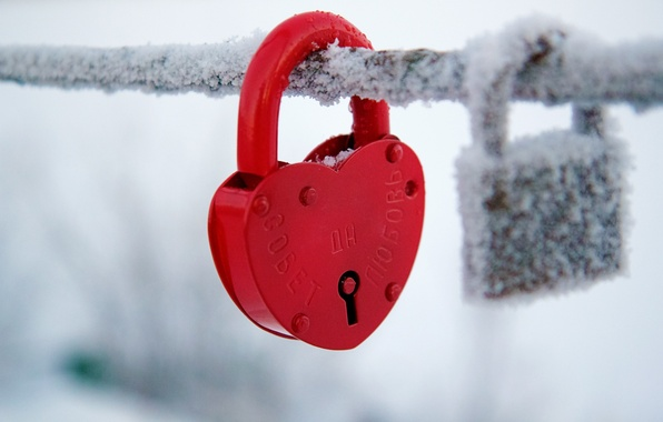 Picture cold, winter, snow, red, background, castle, Wallpaper, mood, heart, blur, wallpaper, heart, widescreen, winter, background, …