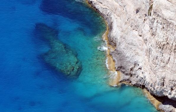 Photo wallpaper sea, rock, wave, landscape
