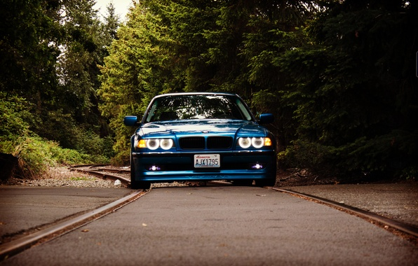 Picture lights, tuning, rails, BMW, classic, stance, bmw e38, 750il