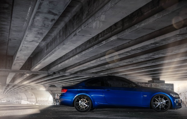Picture Tuning, Blue, BMW, Car, Coupe, Tuning, Coupe, Side, BMW. E92