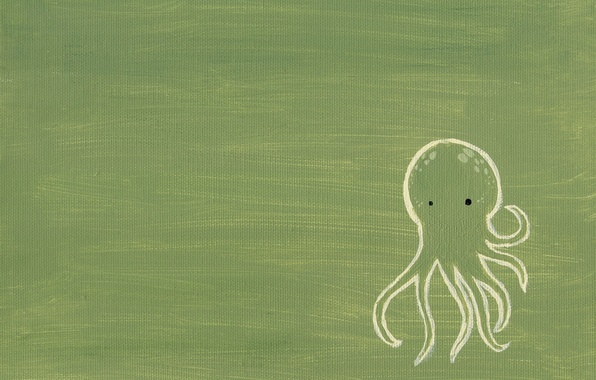 Picture green, figure, octopus