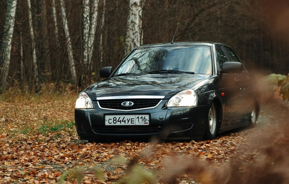 Picture machine, auto, Lada, auto, Lada, Priora, Prior, 2170, very leaves