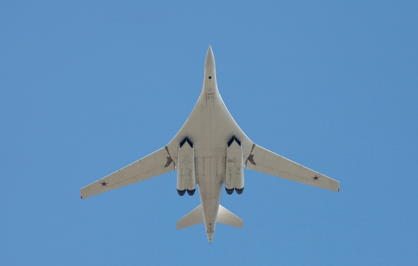 """Picture bomber, strategic, Russian, The Tu-160, Blackjack, supersonic, """"White Swan"""", Air force Russia"""