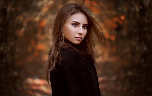 Picture Nataly, natural light, autumn portrait