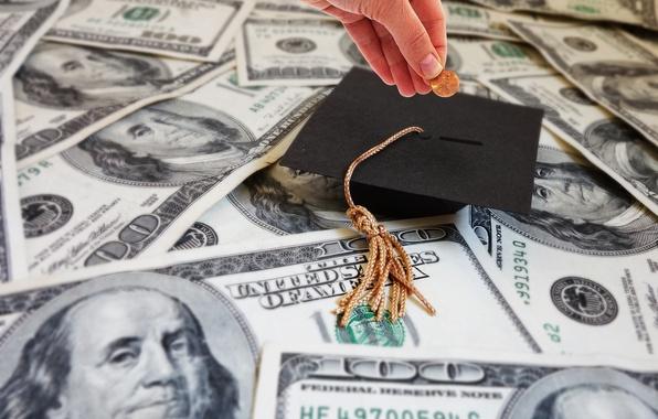 Picture money, education, graduated