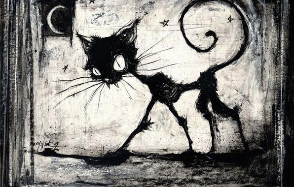Picture black, figure, Koshak