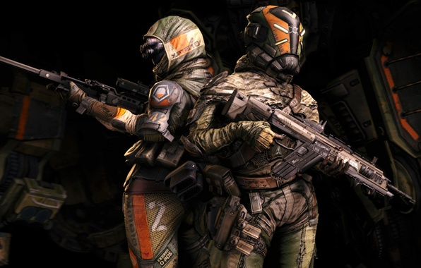 Picture Soldiers, Hunter, Electronic Arts, Pilot, Titan, Equipment, Weapons, Titanfall, Respawn Entertainment