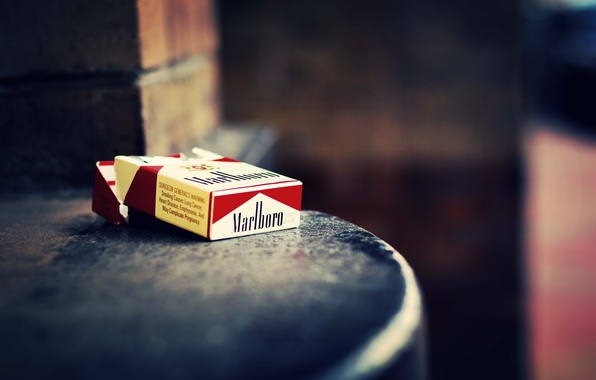 Wallpaper box, cigarette, Marlboro
