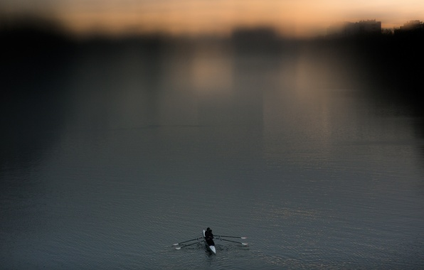 Picture river, sport, boat