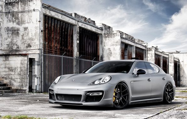 Picture Auto, Porsche, Wall, Tuning, Panamera, Machine, Tuning, Brick