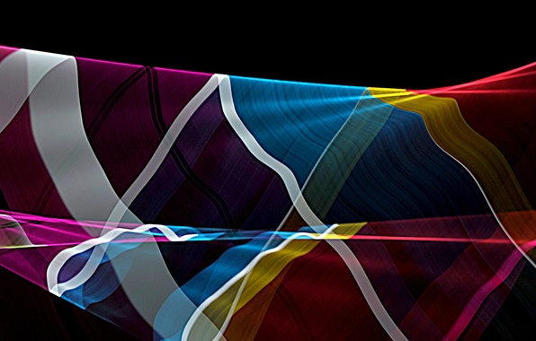 Picture rays, line, color, bending, the volume