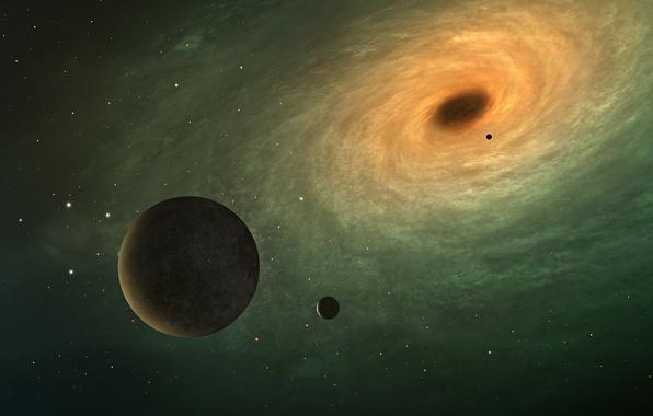 Picture the sky, nebula, planet, satellite, galaxy