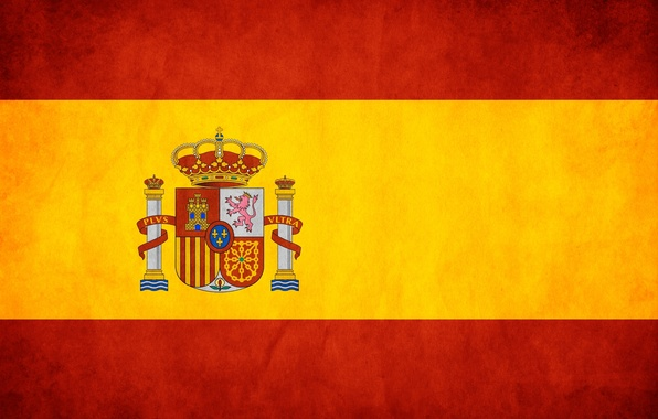 Picture red, yellow, flag, Spain, spain