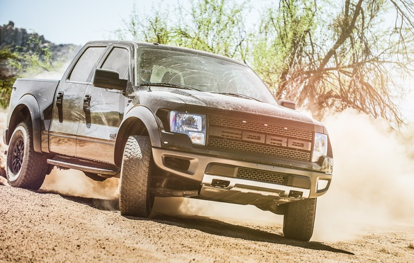 Picture Ford, skid, Raptor, pickup, F-150, Charles Siritho