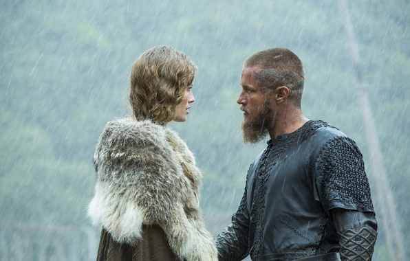 Photo Wallpaper Rain Views Vikings The Travis Fimmel Ragnar Lothbrok