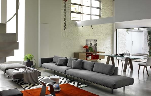 Picture design, grey, sofa, interior, modern, sofa, modern