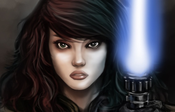 Picture look, girl, art, Star wars, character, Mara Jade, Mara Jade